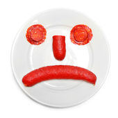 Fotografie Emoticon from food on plate