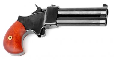 45 cal percussion derringer hand gun