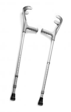 Metal crutches
