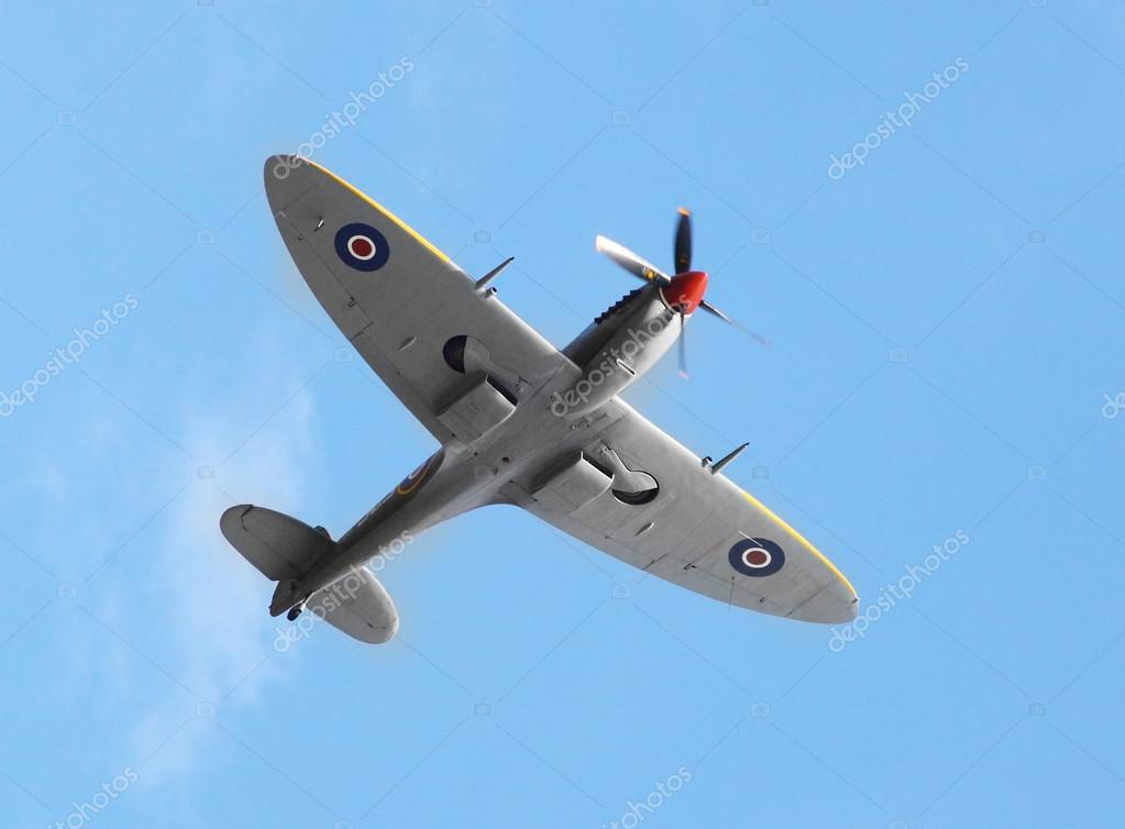 British fighter plane Supermarine Spitfire Mk 16 – Stock