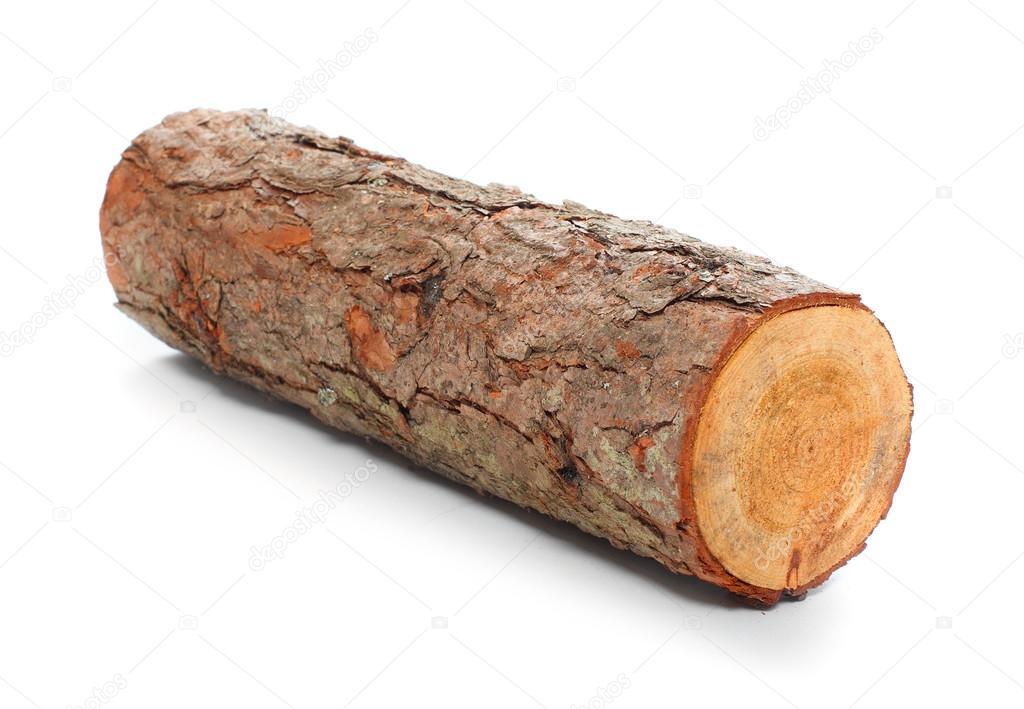 Cut Wood Logs ~ Cut log fire wood from common alder tree — stock photo