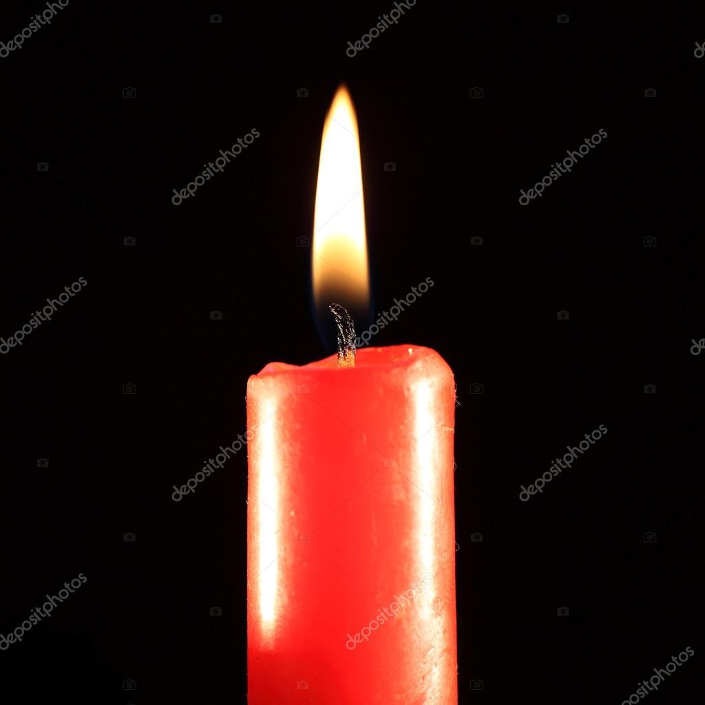 Burning candle.