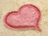 Photo Heart drawn in the sand