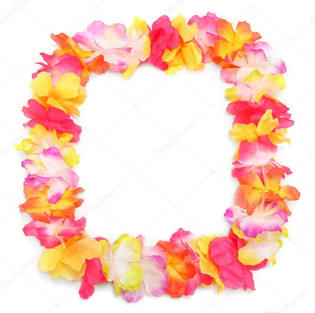 Frame from flowers necklace stock photo vladvitek 33805075 frame from flowers necklace traditional hawaiian decoration photo by vladvitek izmirmasajfo