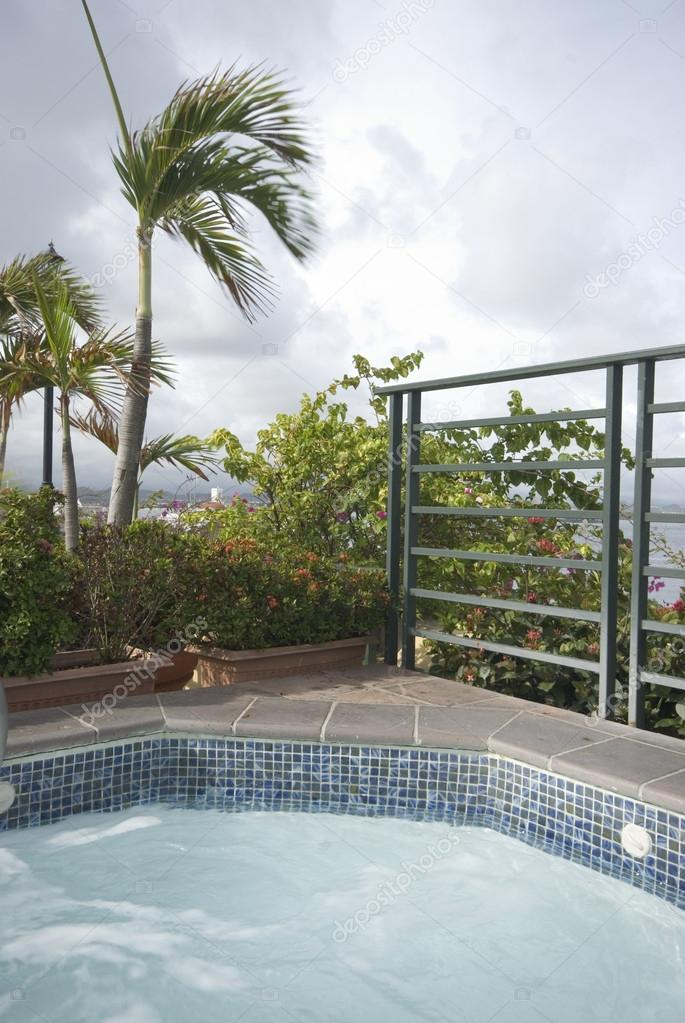 roof top swimming plunge pool and hot tub