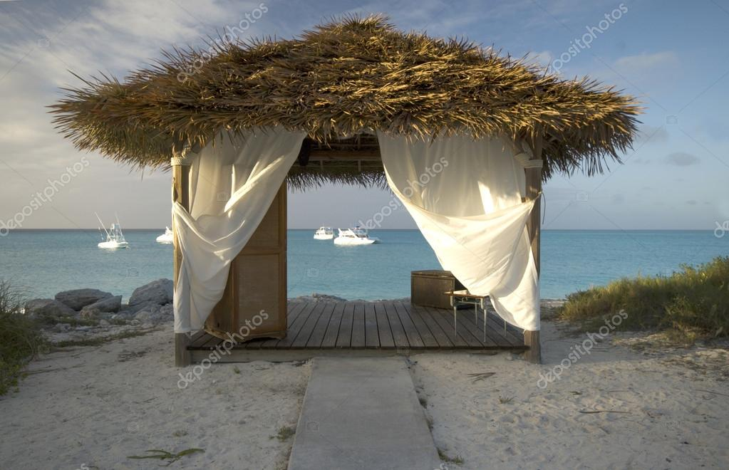 massage hut by the sea