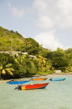 fishing boats friendship bay la pompe bequia st. vincent and the