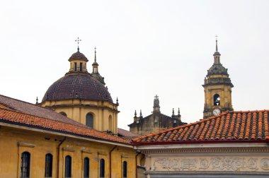 Architecture historic district rooftops church La Candelaria Bogota
