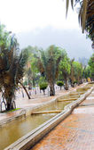 Fotografie Water running canals Avenue Avenida Jimenez Parque Park of the Periodistas writers Candelaria Bogota Colombia South America