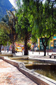 Fotografie water running canals on Avenida Jimenez Parque de los Periodist