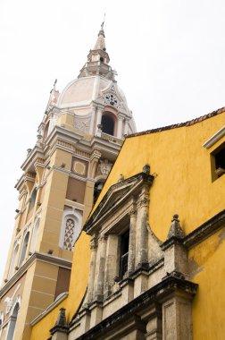 """Картина, постер, плакат, фотообои """"Кафедральный собор и храм Siglo Колумбии Картахена исторической архитектуры"""", артикул 23057536"""
