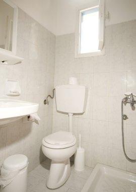 compact bathroom Ios island Greece
