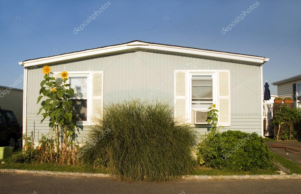 mobile homes in trailer park condominium oceanfront in Montauk Long Island New York the Atlantic Ocean