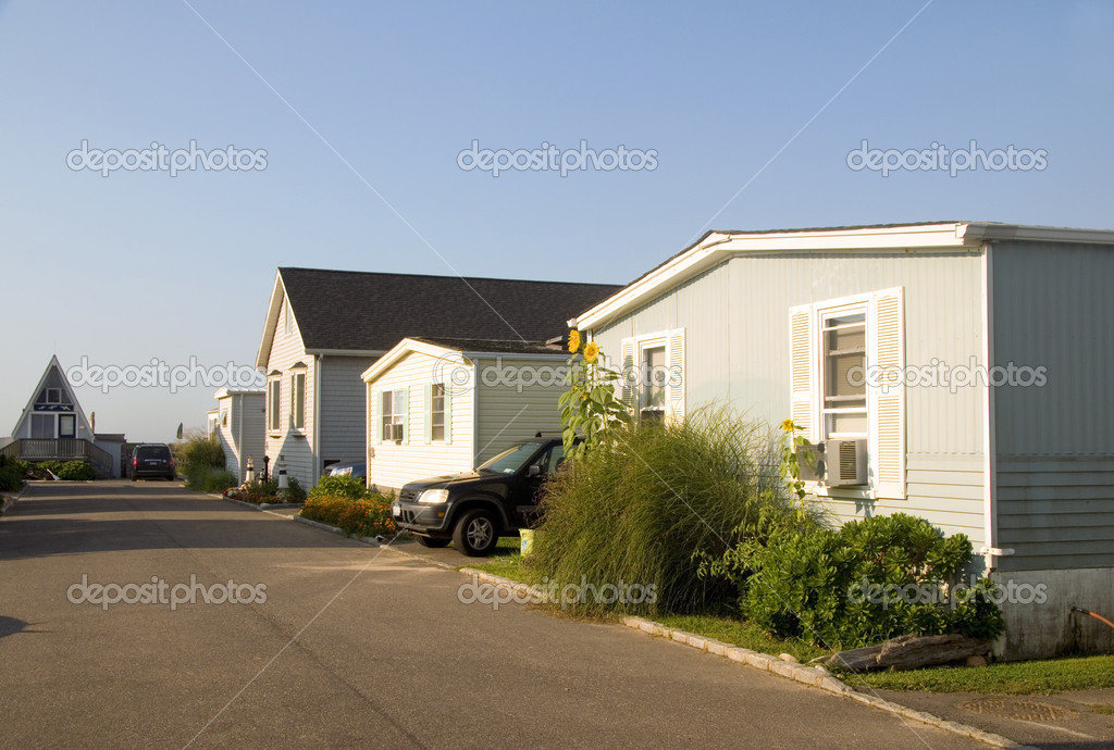 Mobile Homes In Trailer Park Condominium Oceanfront In Montauk Long