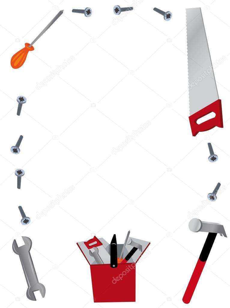 marco de herramientas de trabajo — Archivo Imágenes Vectoriales ...
