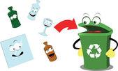 Fotografia riciclaggio vetro