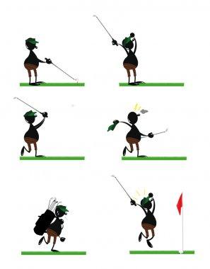 Funny Golf Player