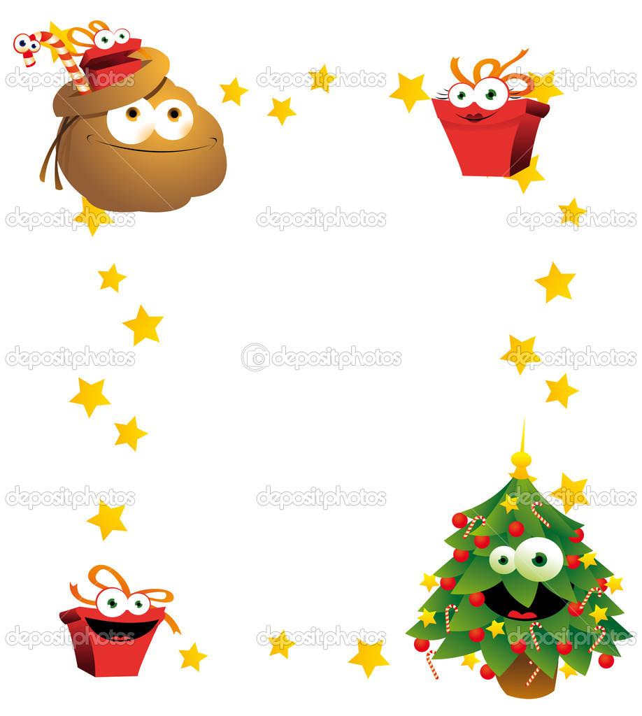 marco de Navidad vertical — Vector de stock © pcanzo #14031244