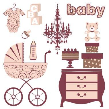 Elegant baby shower set