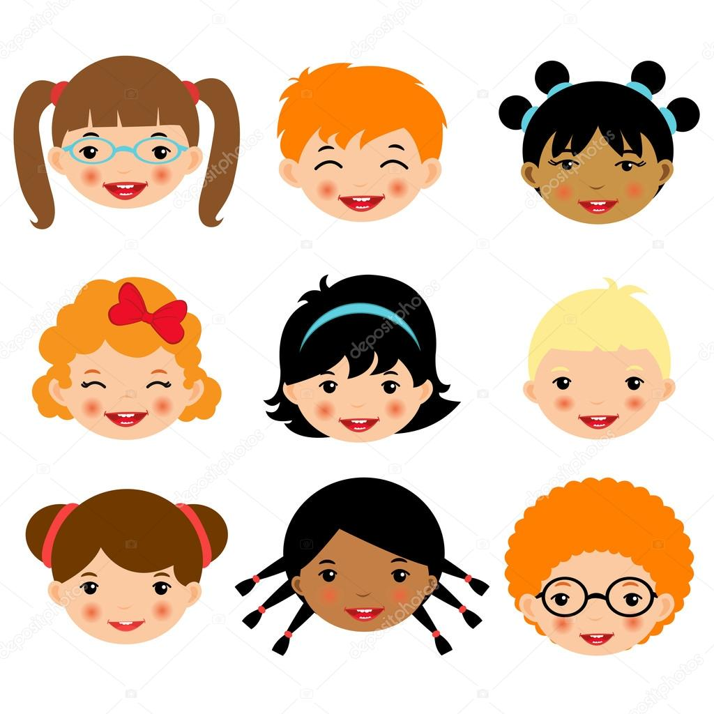 Kids faces