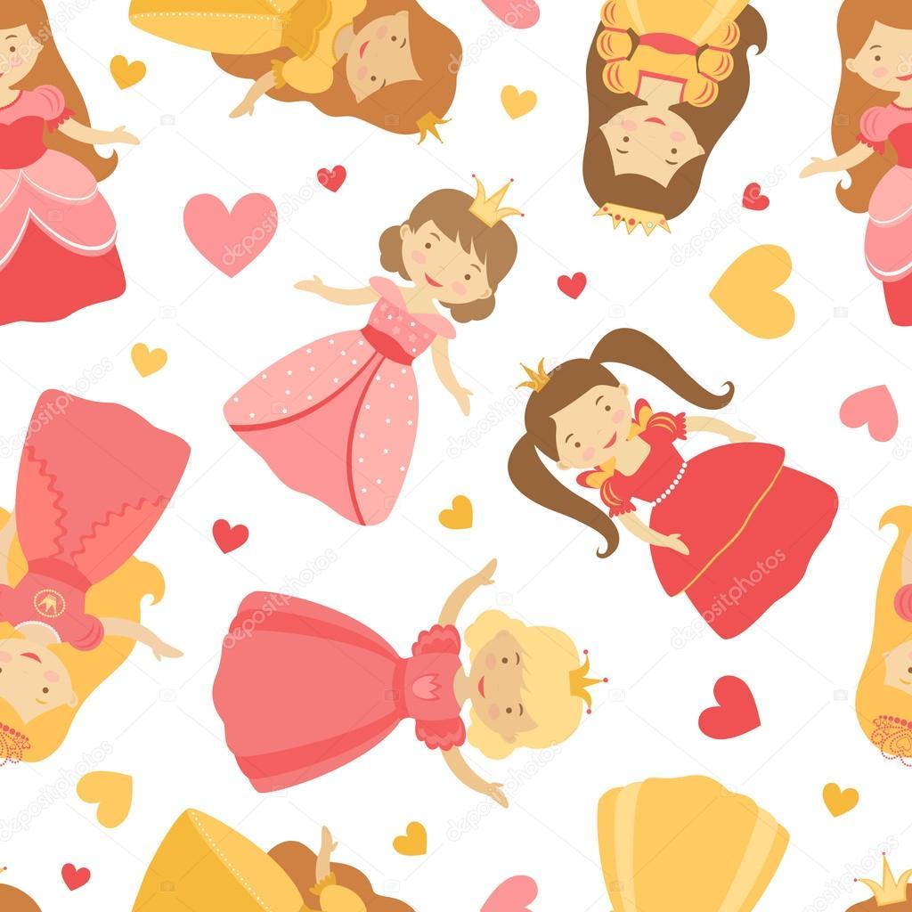 Cute princesses pattern