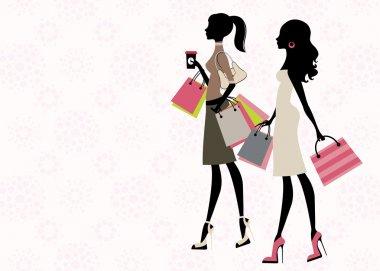 Two chick women shopping