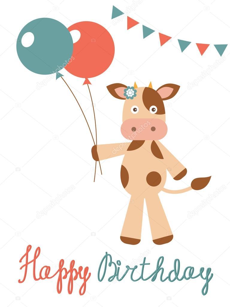 обычно картинка корова с днем рождения многом благодаря потрясающему