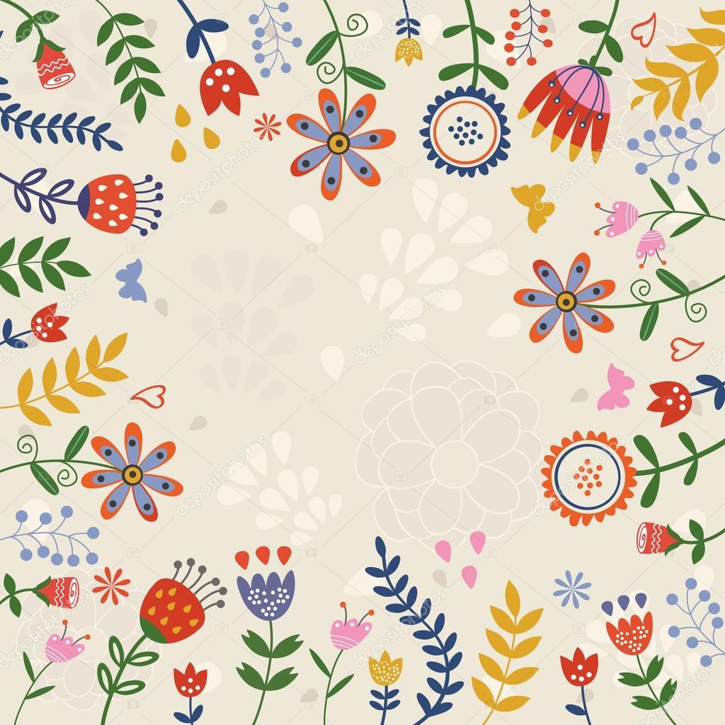 Floral round composition