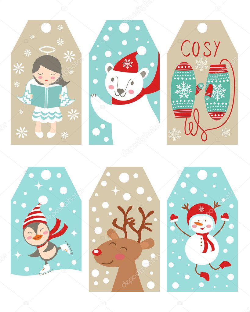 Мини открытка на новый год распечатать