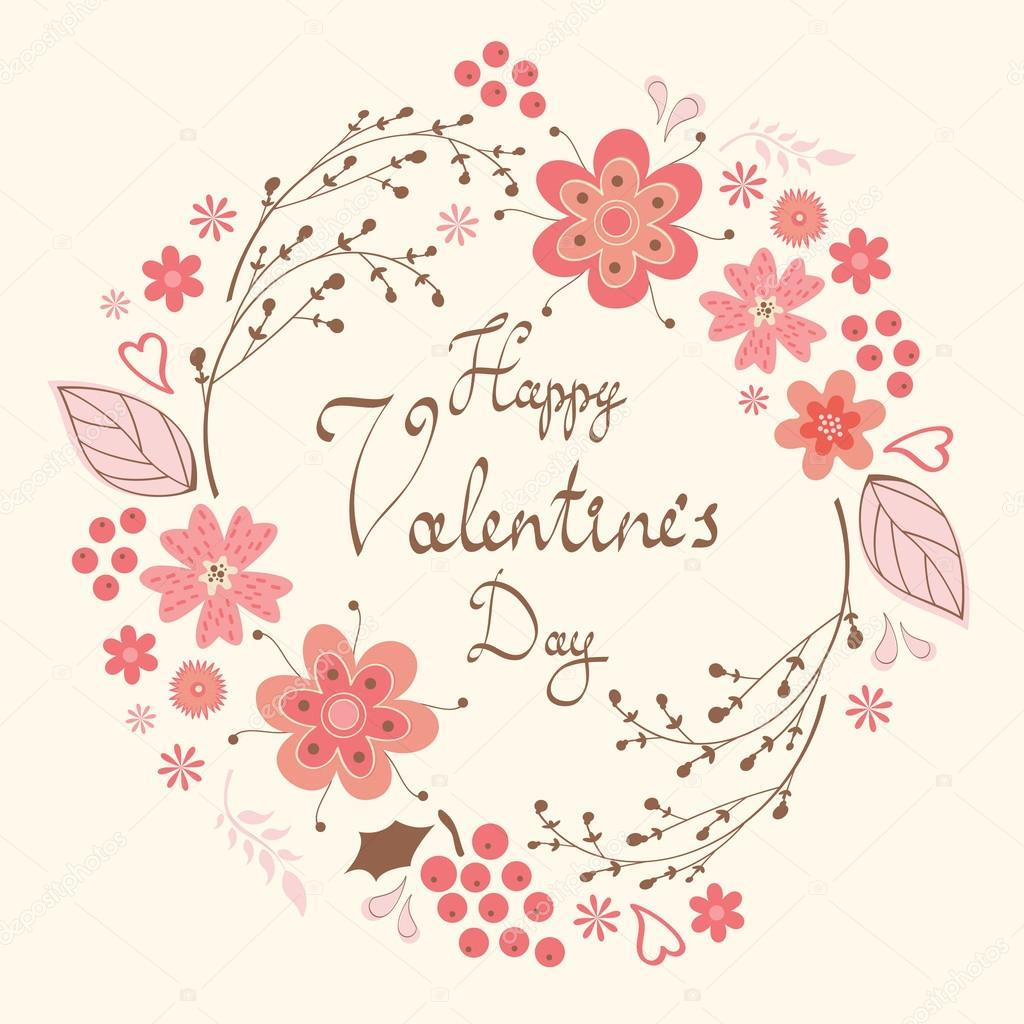 Happy Valentine`s day card