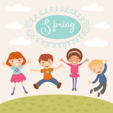 Jumping spring kids