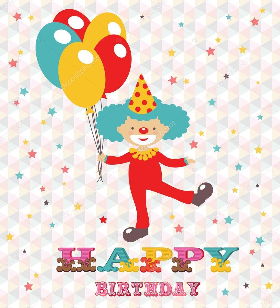 Поздравления на день рождения клоун