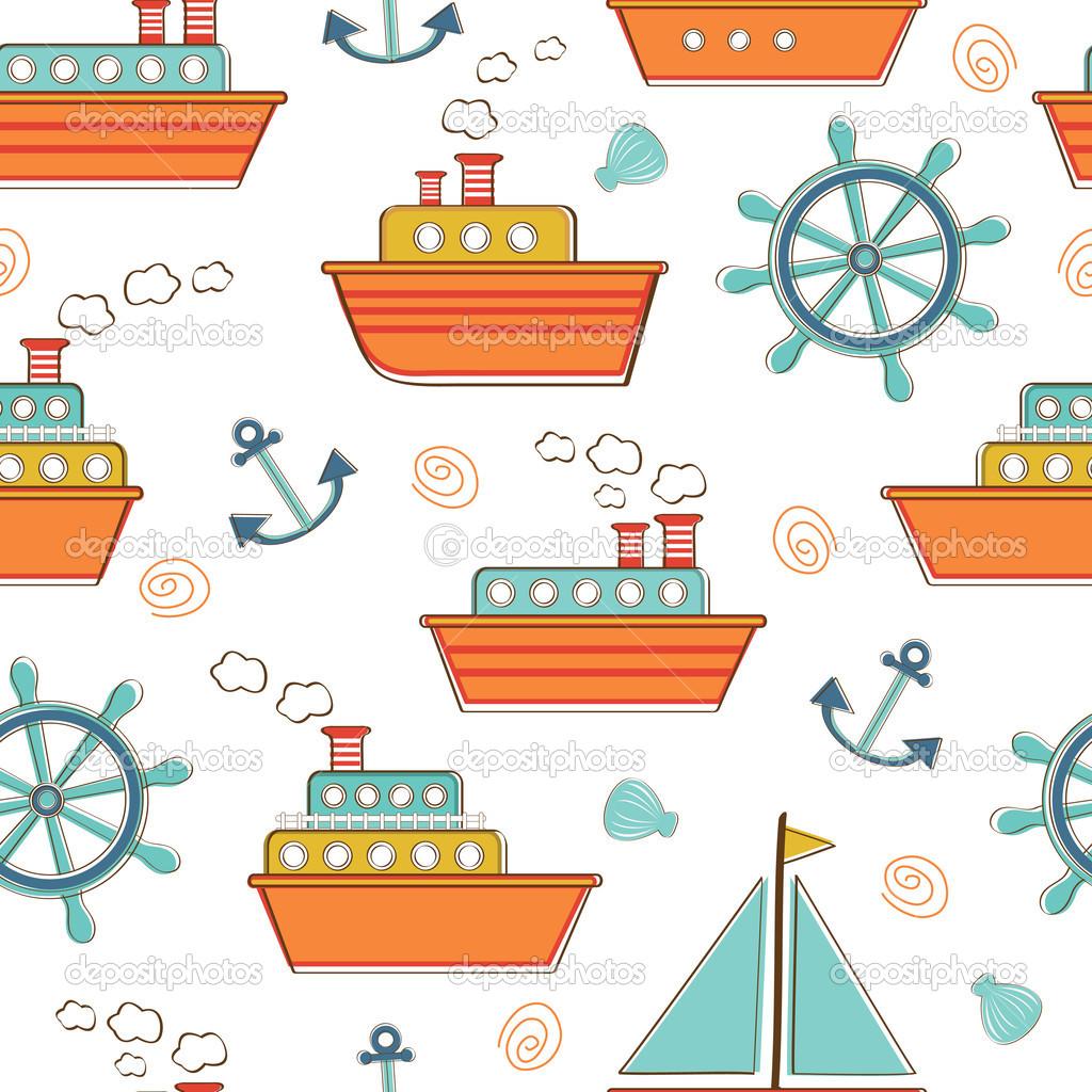 barcos y naves de patrones sin fisuras — Archivo Imágenes ...