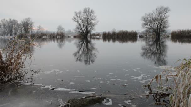 Winter landscape at Havel River (Brandenburg - Germany)