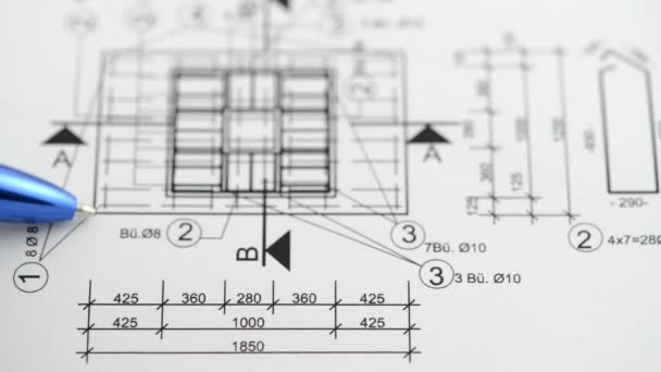 Check the measurements and dimensions on the blueprint with a pen
