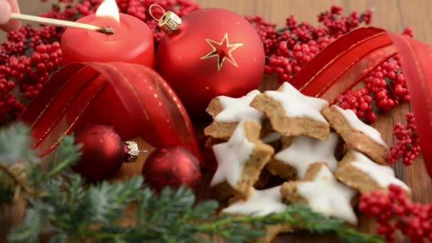 Lit a candle on Christmas Time