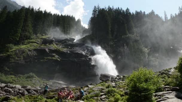 Waterfalls in Krimml. (Austria)