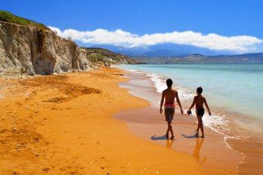 Xi beach at Kefalonia island in Greece