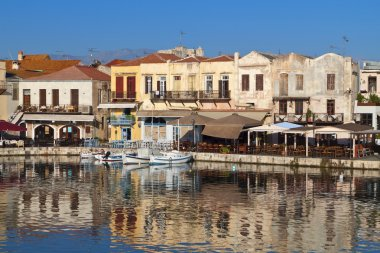 Rethymno city at Crete island in Greece