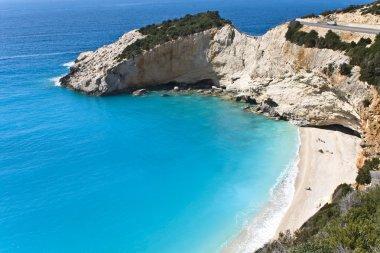 Porto Katsiki beach at Lefkada island in Greece.