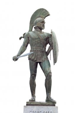 King Leonidas of the 300 spartan soldiers