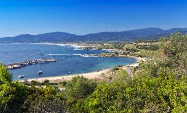 Scenic bay at Halkidiki peninsula in Greece