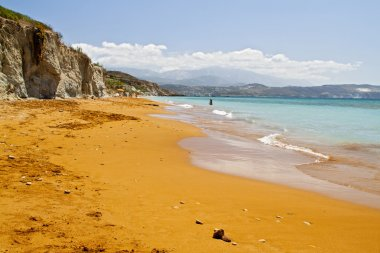 Scenic beach at Kefalonia island in Greece