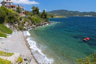 Scenic beach at Chalkidiki peninsula in Greece