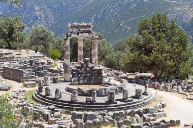 Temple of Athena pronoia at Delphi in Greece