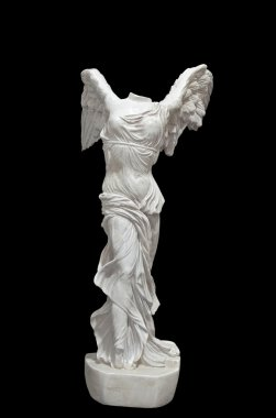 Nike of Samothrace ancient Greek statue. Luvre museum
