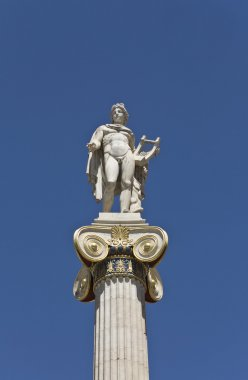Apollo statue at the Academy of Athens in Greece