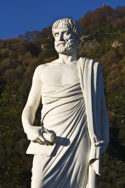 Aristotle statue located at Stageira in Greece