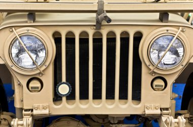 Collectible old ww2 jeep vehicle