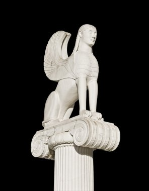 Ancient Greek sphinx statue